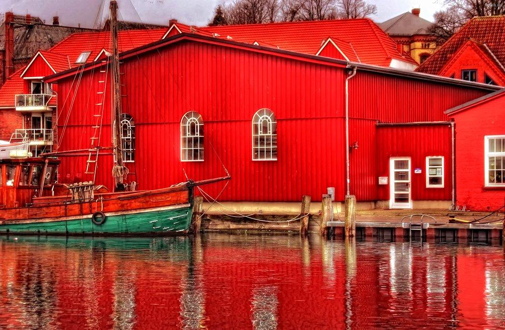 Hafen rot HDR